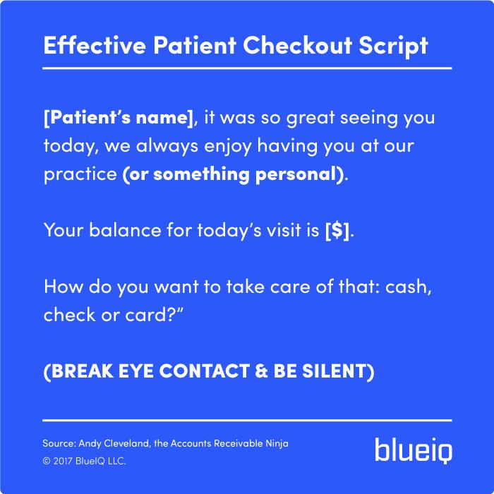 Patient Checkout Script